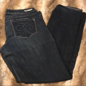 Express Barely Boot Mid Rise Jeans 12L